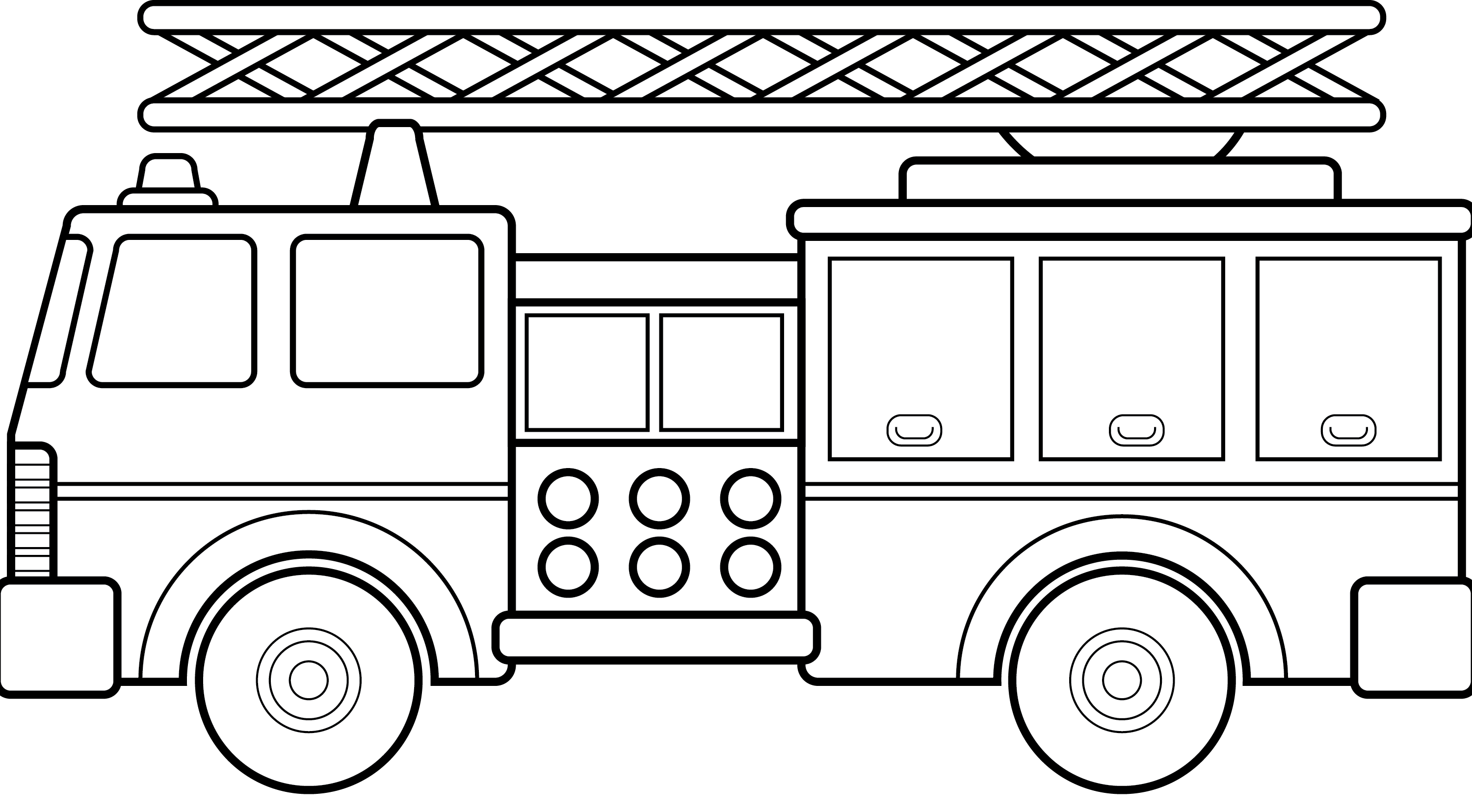 Fire truck clipart black white graphic royalty free stock Firetruck fire truck clip art black and white use these free images ... graphic royalty free stock