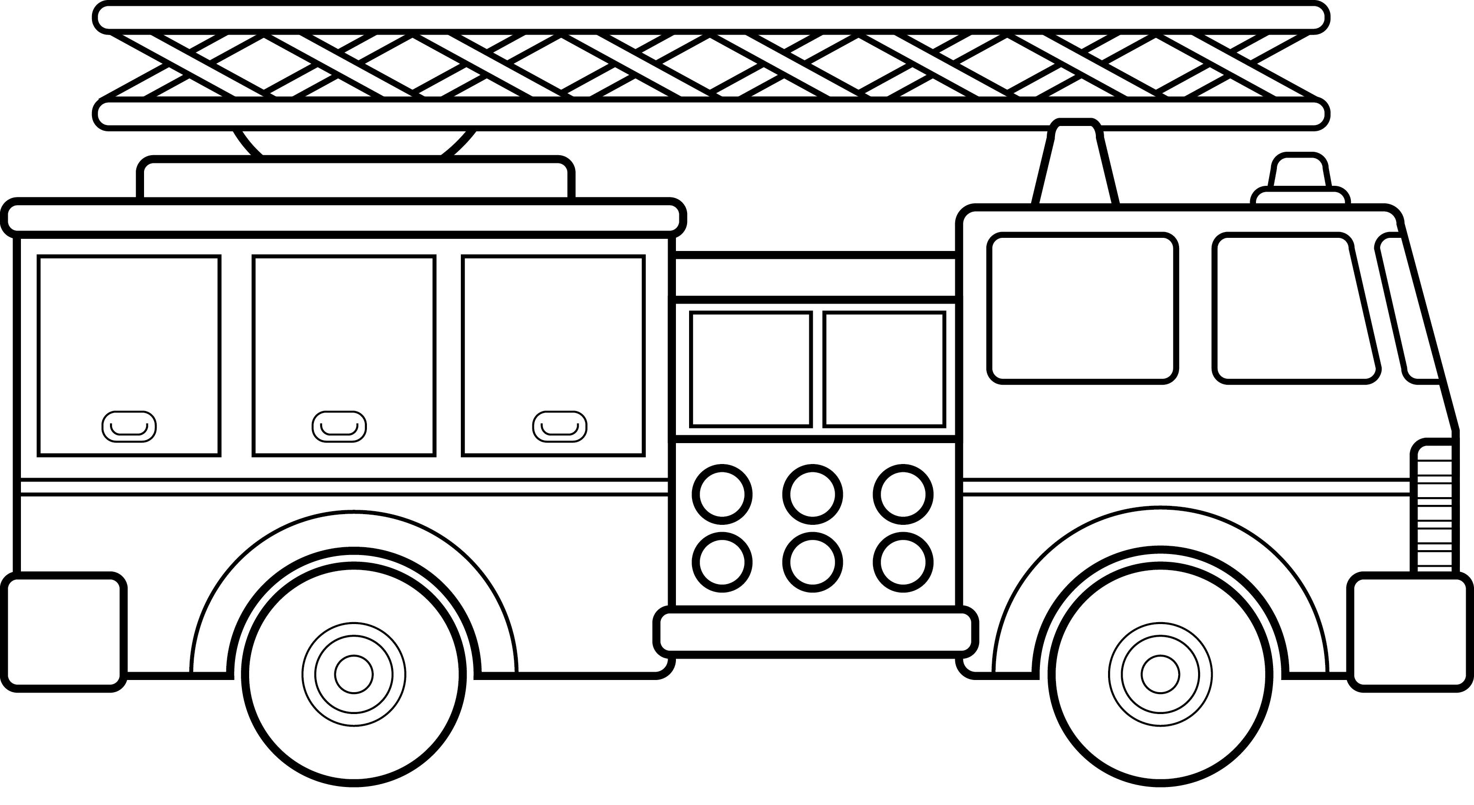 Fire truck clipart black white clipart freeuse stock Top fire truck cars and trucks clip art black white car library ... clipart freeuse stock