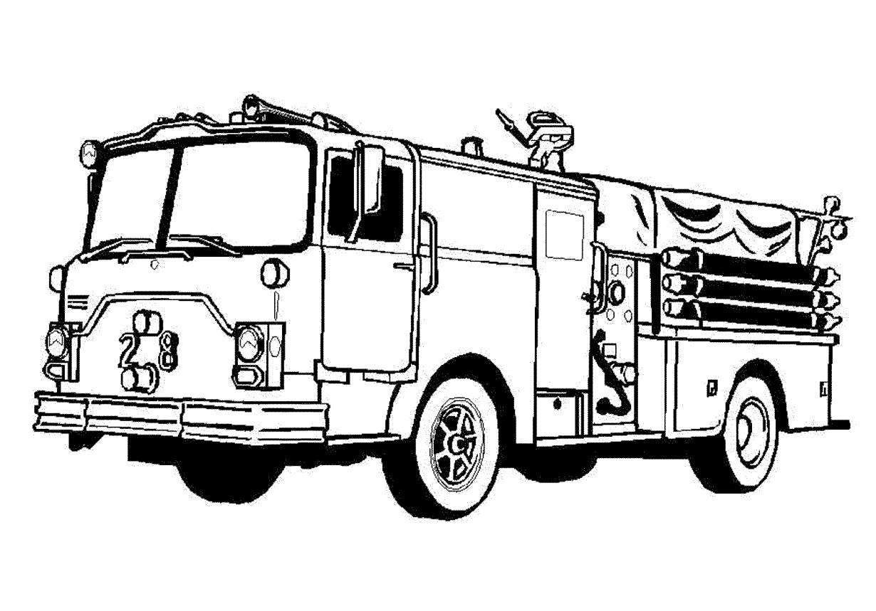 Fire truck clipart black white graphic transparent library Fire Truck Clipart Black And White Free 5 | Rizapbeauty.com graphic transparent library