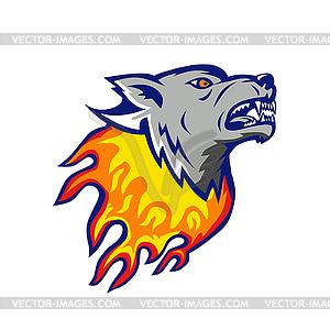 Fire wolf clipart