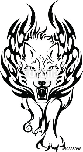 Fire wolf clipart banner free stock Fire-wolf\