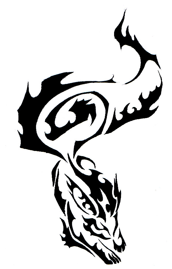 Fire wolf clipart png library library Fire Wolf Tribal Tattoo by Canyx on Clipart library - Clip Art Library png library library