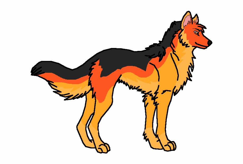 Fire wolf clipart clip freeuse download Wolf Of Fire - Dog Catches Something Free PNG Images & Clipart ... clip freeuse download