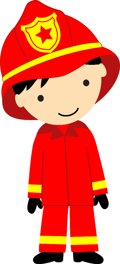 Firefighter clipart for kids png royalty free Bombeiros e Polícia - Minus   alreadyclipart - professions ... png royalty free