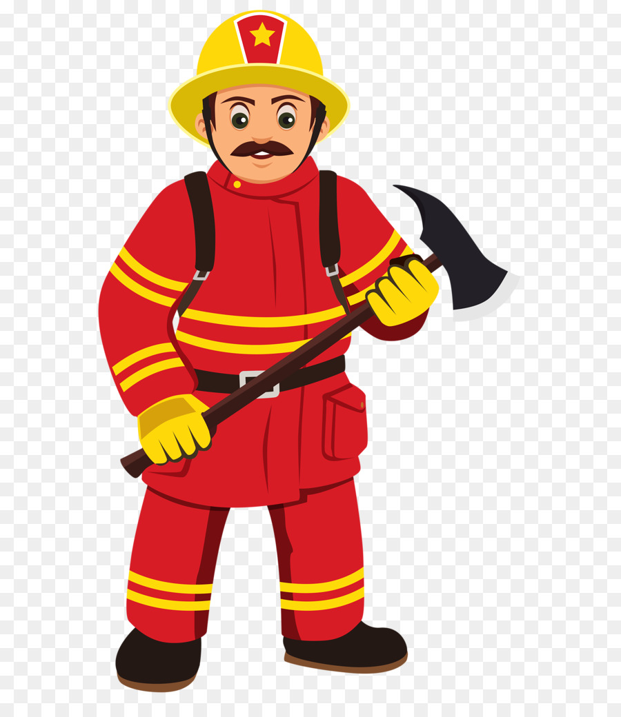 Firefighter clipart png clip free download Firefighter Clipart clipart - Cartoon, Illustration, Yellow ... clip free download