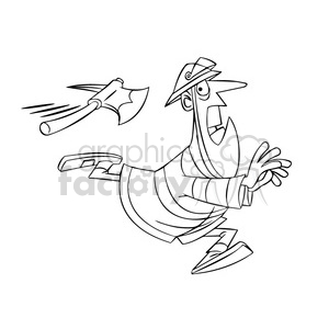 Firefighter dragging hose clipart free black and white