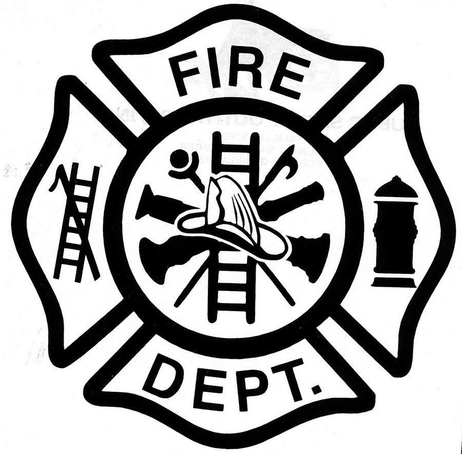 Firefighter emblem clipart image royalty free library Firefighter Logo Clip Art | Custom Fire Dept Decal Maltese Cross Any ... image royalty free library