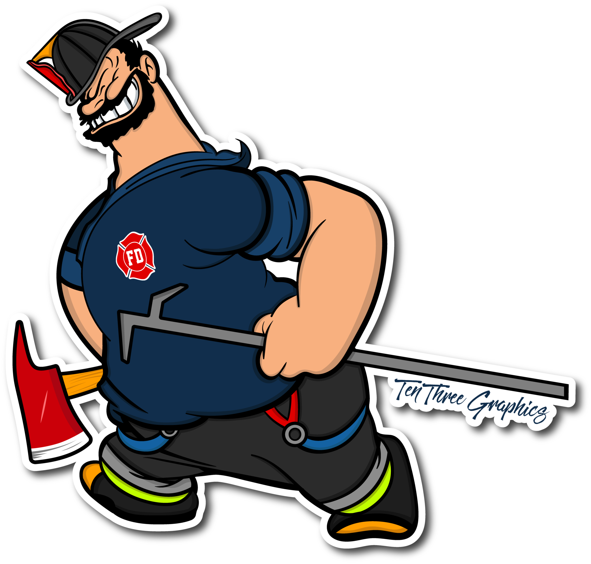Firefighter kneeling at the cross clipart banner royalty free library Truckie Decal | Pinterest | Firefighter, Firefighting and Fire dept banner royalty free library