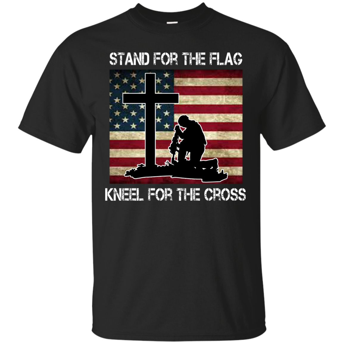 Firefighter kneeling at the cross clipart picture free library Stand For The Flag Kneel For The Cross T-Shirt, Hoodie | Pinterest ... picture free library