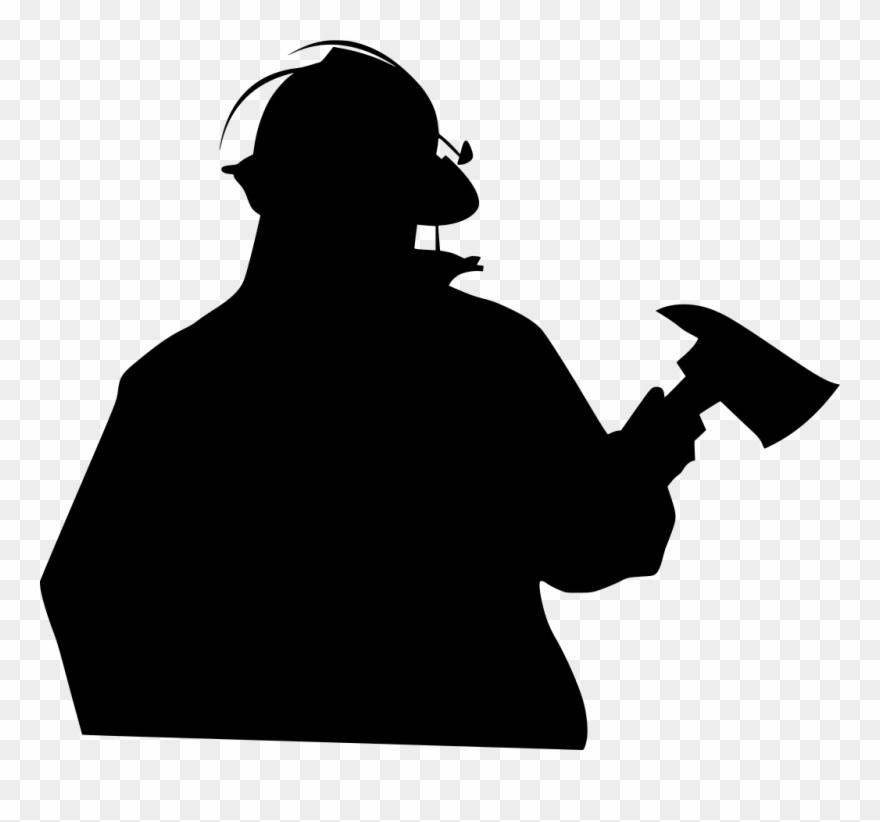 Firefighter silhouette clipart graphic library stock Download Png - Fireman Silhouette Clipart (#3486780) - PinClipart graphic library stock
