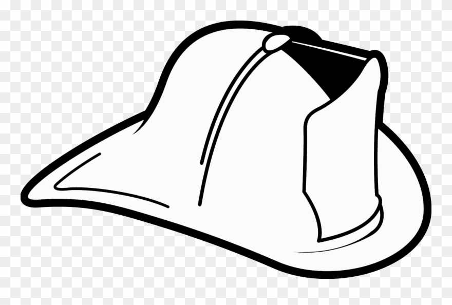 Firehelmet and hose clipart black and white transparent library Collection Of Firefighter Helmet Black And - Fireman Hat Clip Art ... transparent library