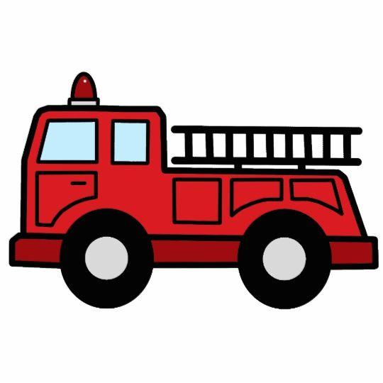 Simple truck clipart jpg freeuse Cartoon Clip Art Firetruck Emergency Vehicle Truck Statuette ... jpg freeuse