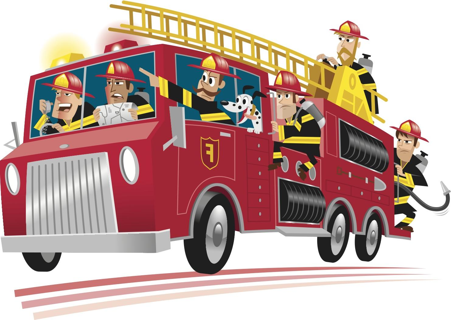 Vector firetruck clipart image library library Hd cartoon fire truck clipart clipartcow library - ClipartBarn image library library