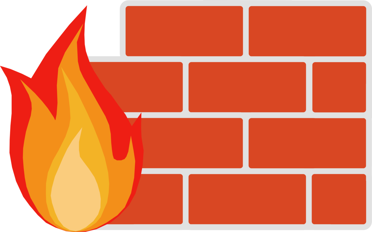 Firewall icon clipart
