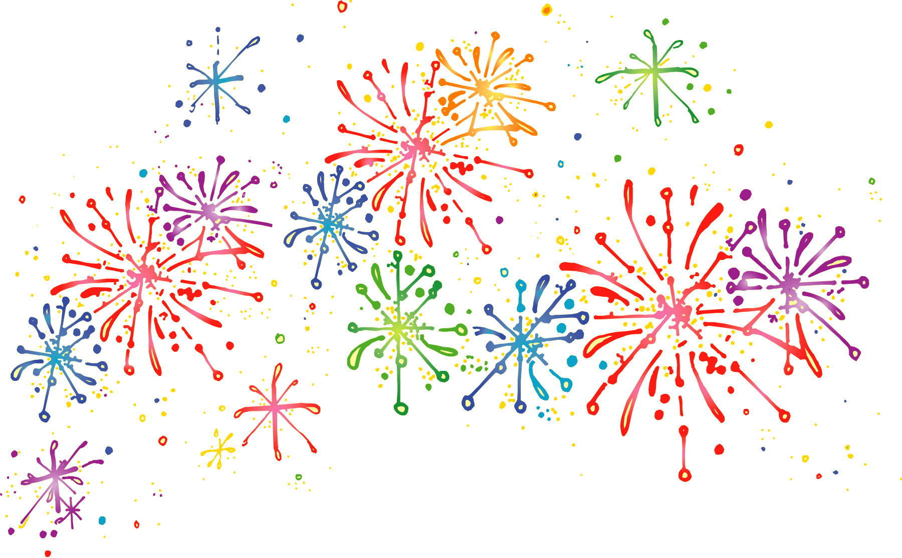 Pictures of cartoon fireworks. Firework star clipart