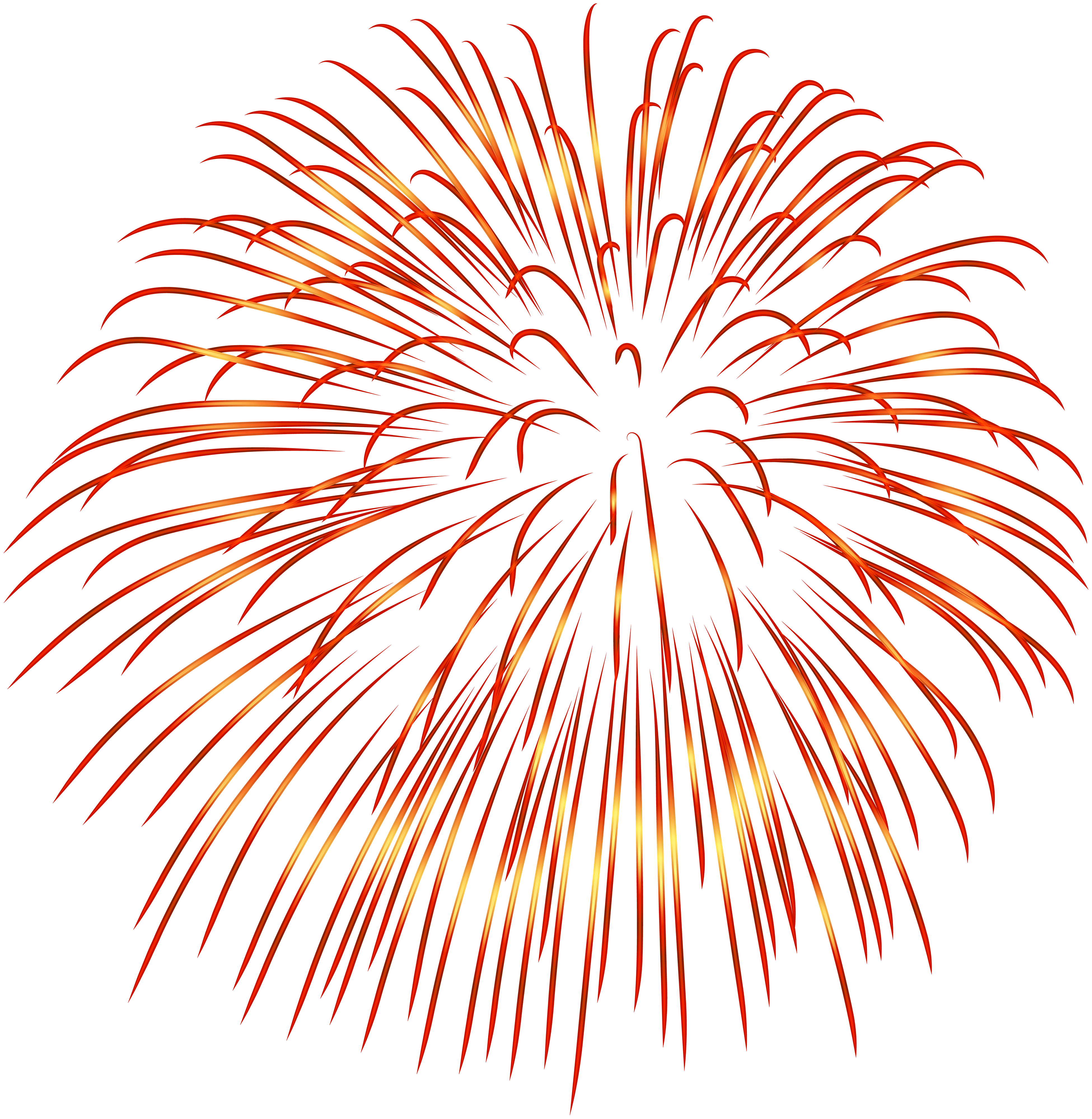 Firework star clipart. Red transparent png image