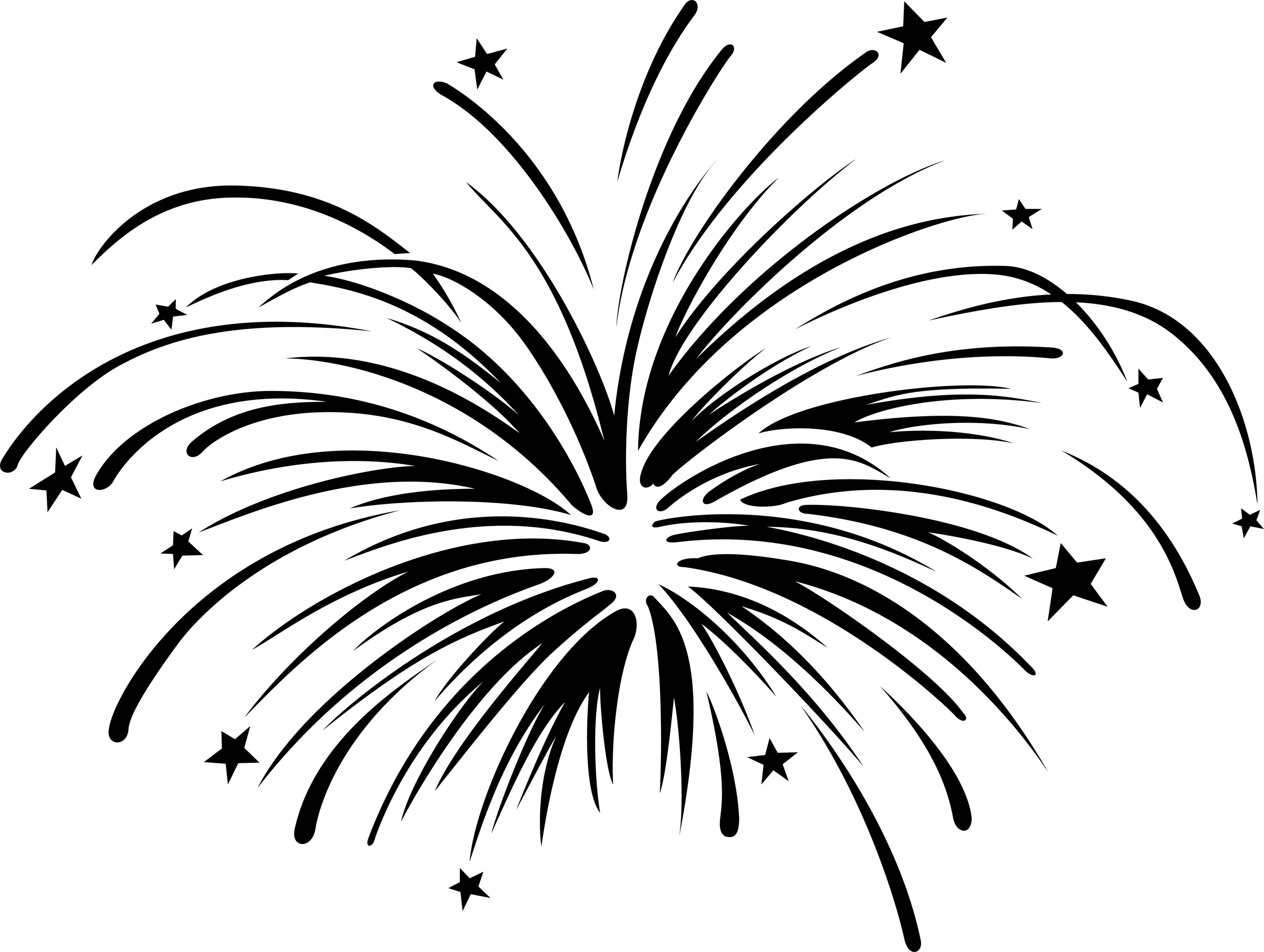 Fireworks black and white clipart banner library Fireworks clipart black and white free - ClipartAndScrap banner library