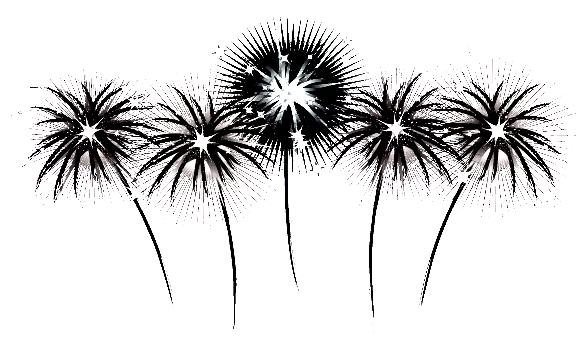 Fireworks black and white clipart jpg transparent download clip art black and white | ... Crafts » Blog Archive » 4th of July ... jpg transparent download