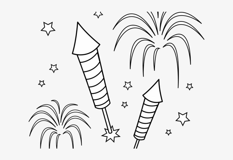 Fireworks black and white clipart vector free stock Drawn Fireworks White Transparent - Clip Art Black And White ... vector free stock