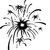 Fireworks clipart black and white banner download Fireworks Clipart Black And White | Clipart Panda - Free Clipart Images banner download
