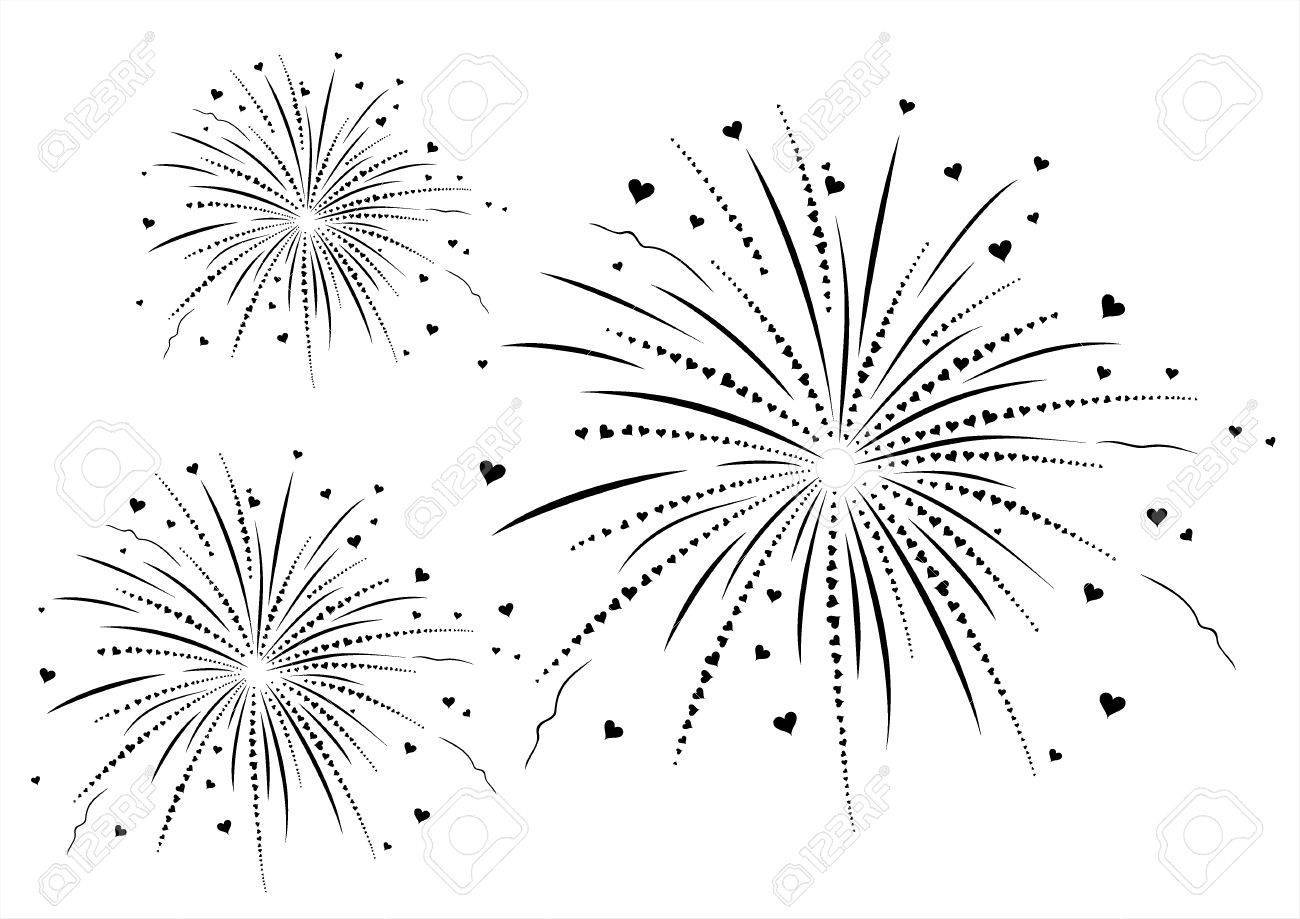 Fireworks clipart black and white image library Black and white fireworks clipart 3 » Clipart Portal image library