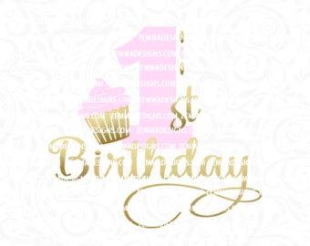 First birthday cupcake clipart banner black and white stock Cupcake clipart   Etsy banner black and white stock