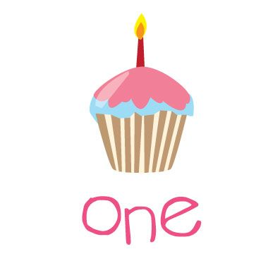 First birthday cupcake clipart clip free stock 1000+ images about Jillian's 1st birthday on Pinterest   Shops ... clip free stock