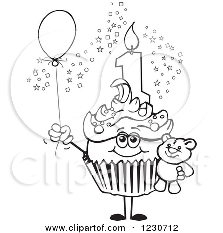 First birthday cupcake clipart picture freeuse stock 1st birthday cupcake clip art   clipart panda free clipart images ... picture freeuse stock
