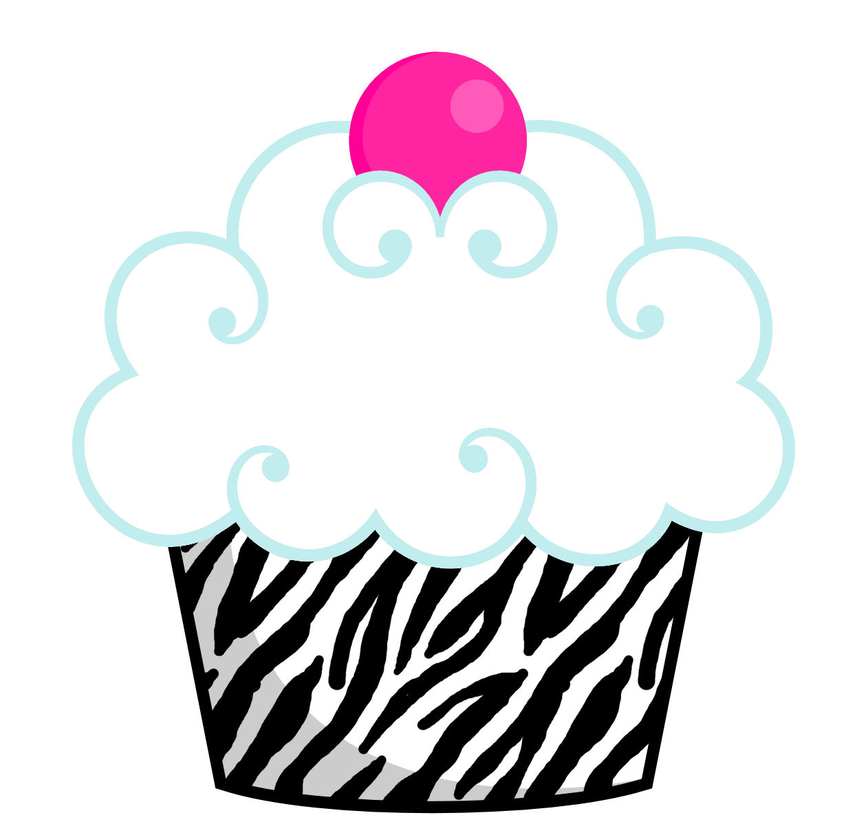 First birthday cupcake clipart black and white library 1st Birthday Cupcake Clip Art   Clipart Panda - Free Clipart Images black and white library