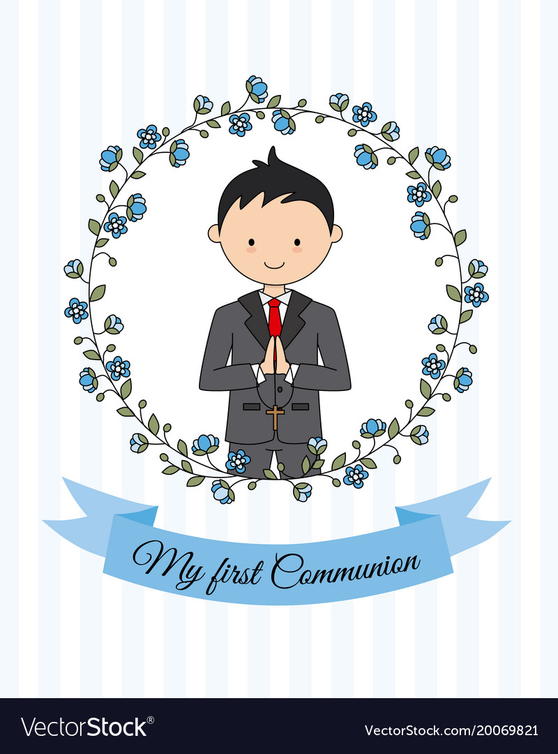 First communion boy clipart freeuse download My first communion boy freeuse download