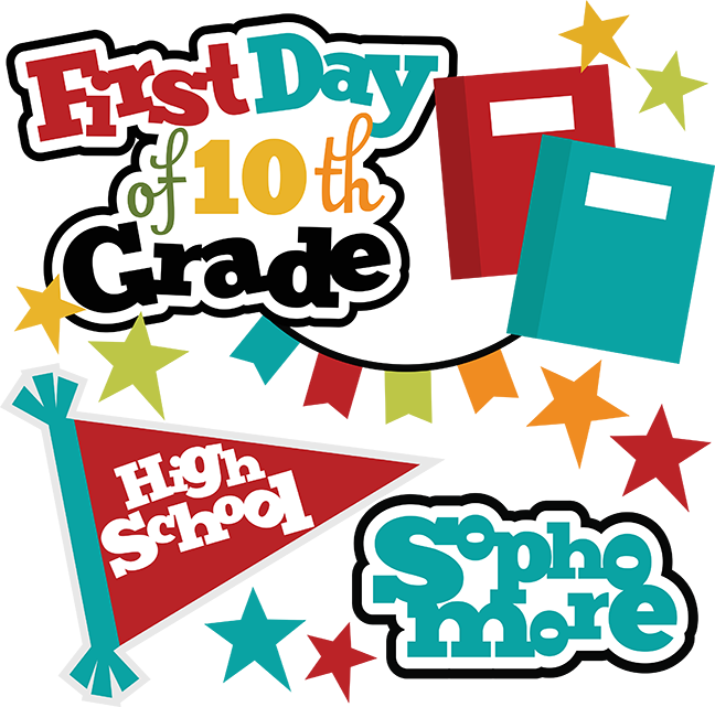 First day of middle school clipart banner library download First Day Of 10th Grade SVG school svg files for scrapbooking free ... banner library download
