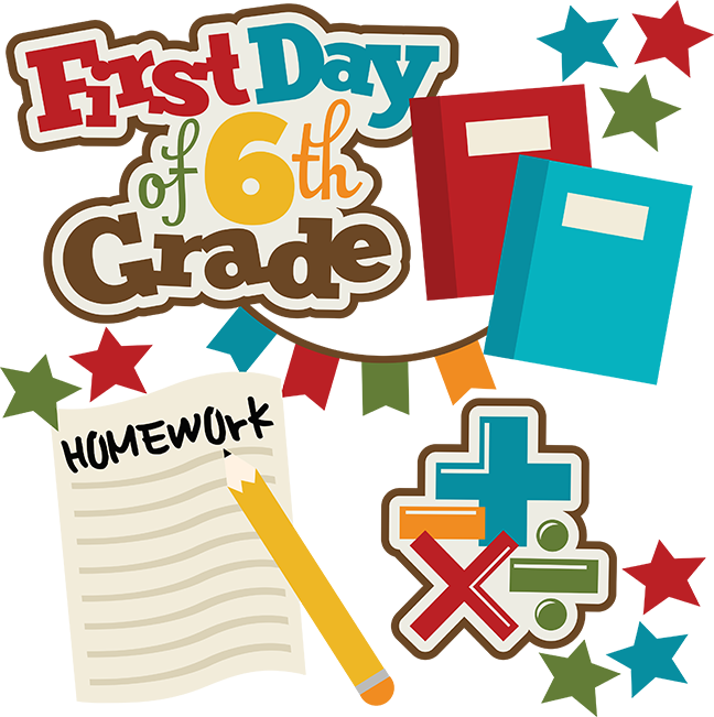First day of middle school clipart vector freeuse First Day Of 6th Grade SVG school svg collection school svg files ... vector freeuse