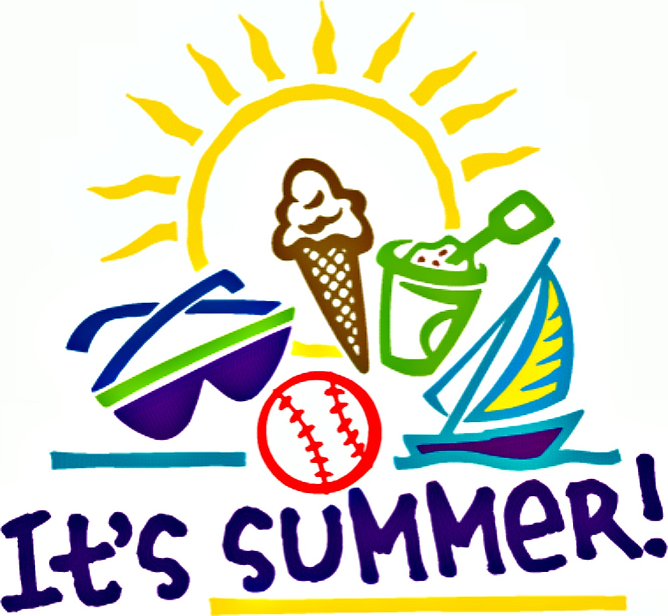 First day of summer clipart images vector First Day Of Summer Clipart 7 - 1327 X 1225 - Making-The-Web.com vector
