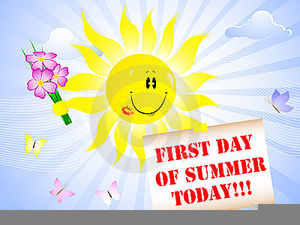 First day of summer free clipart image royalty free stock Summer Begins Clipart | Free Images at Clker.com - vector clip art ... image royalty free stock