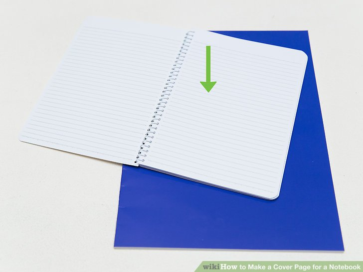 First page of black and white notebook inside cover clipart. How to make a