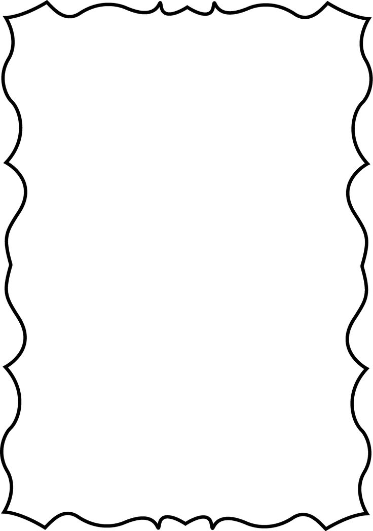 Best borders clip art. First page of black and white notebook inside cover clipart
