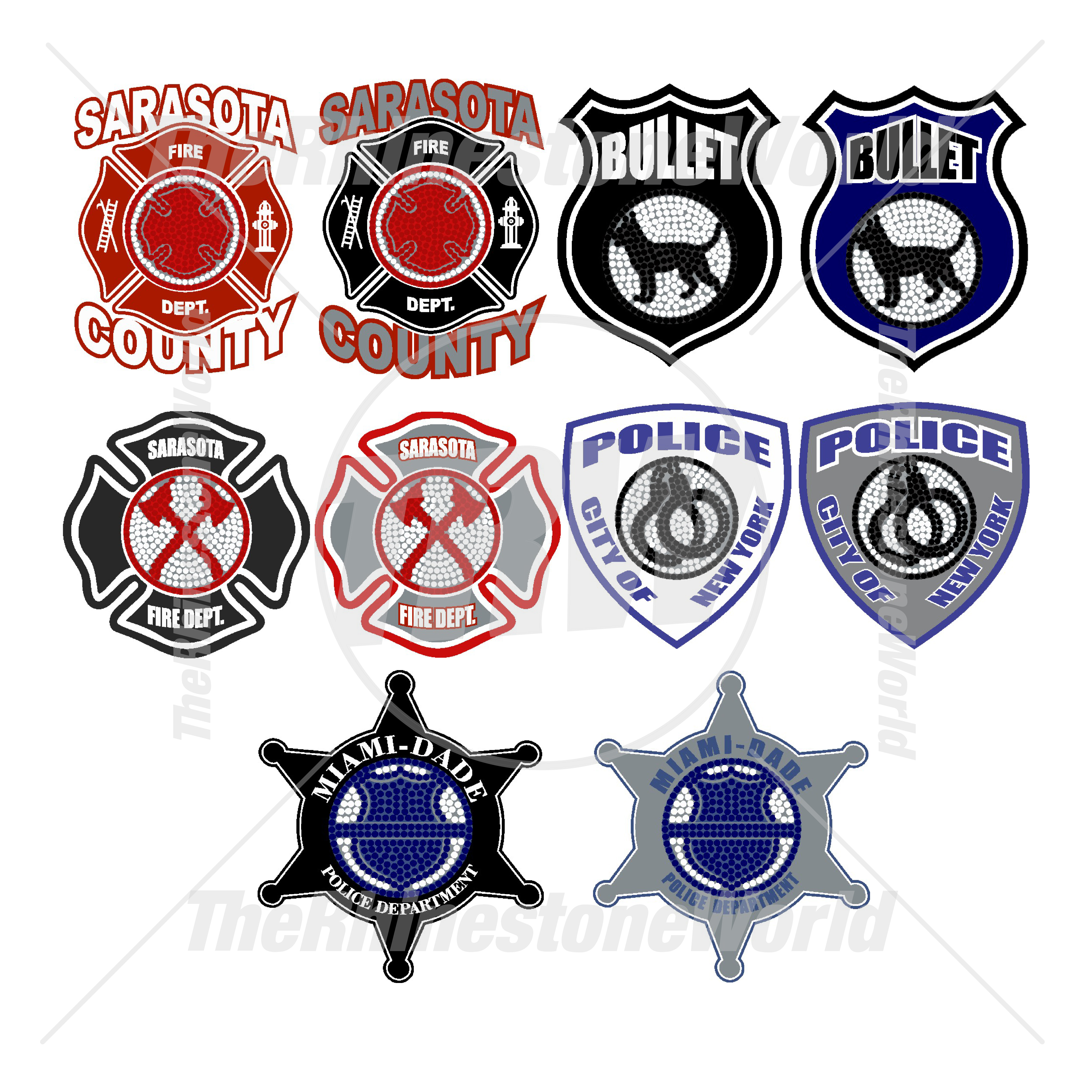 First responder clipart jpg royalty free Rhinestone Decal LT First Responder Mini Pack jpg royalty free