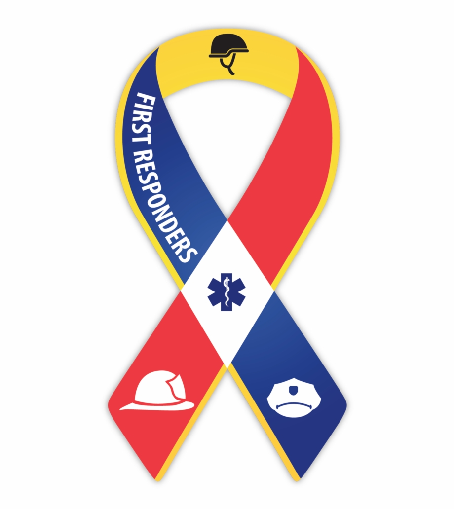 Free clipart first responders clip art royalty free First Responder Ribbon Single - First Responders Ribbon Free PNG ... clip art royalty free