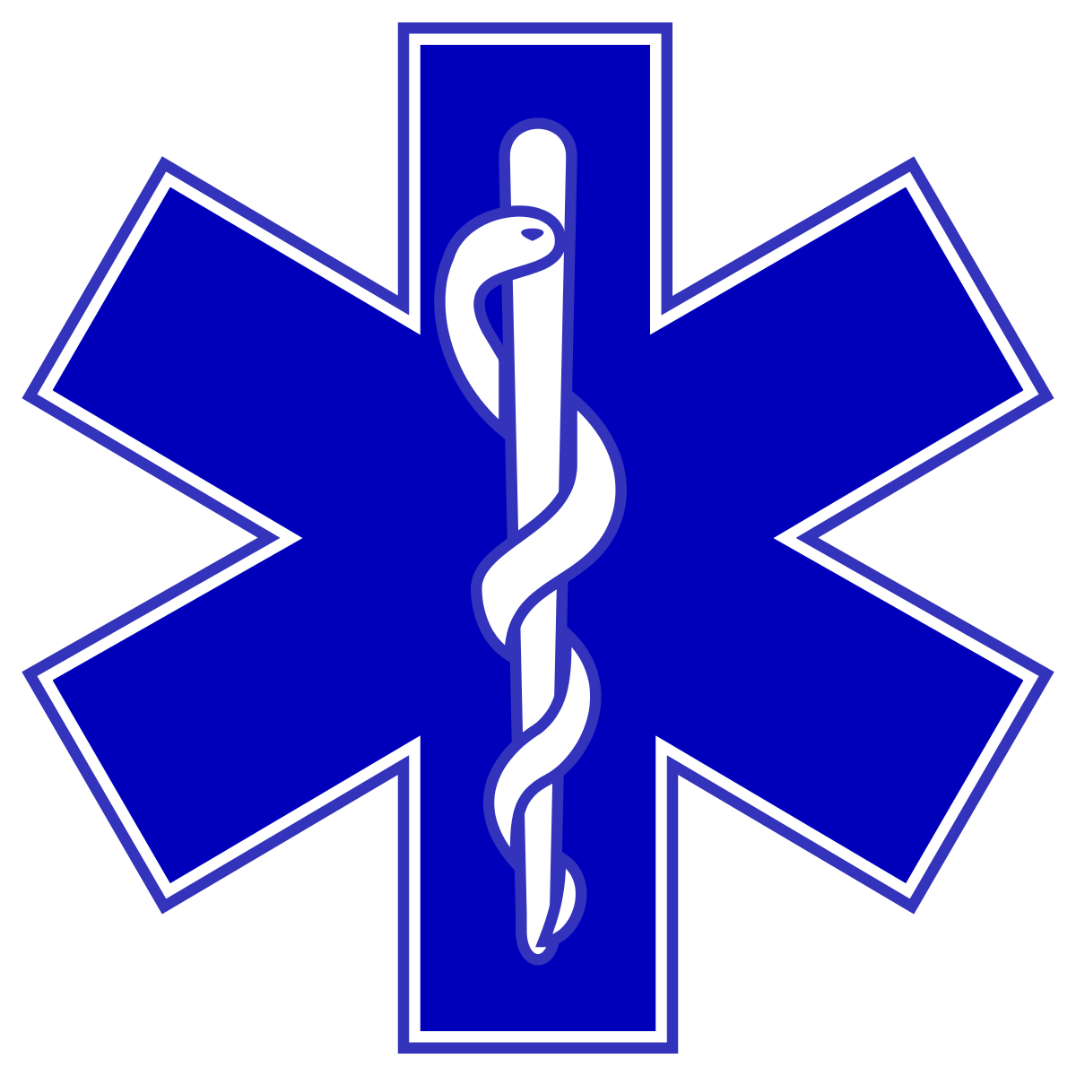 Star of life black and white clipart svg black and white library Emergency medical technician - Wikipedia svg black and white library