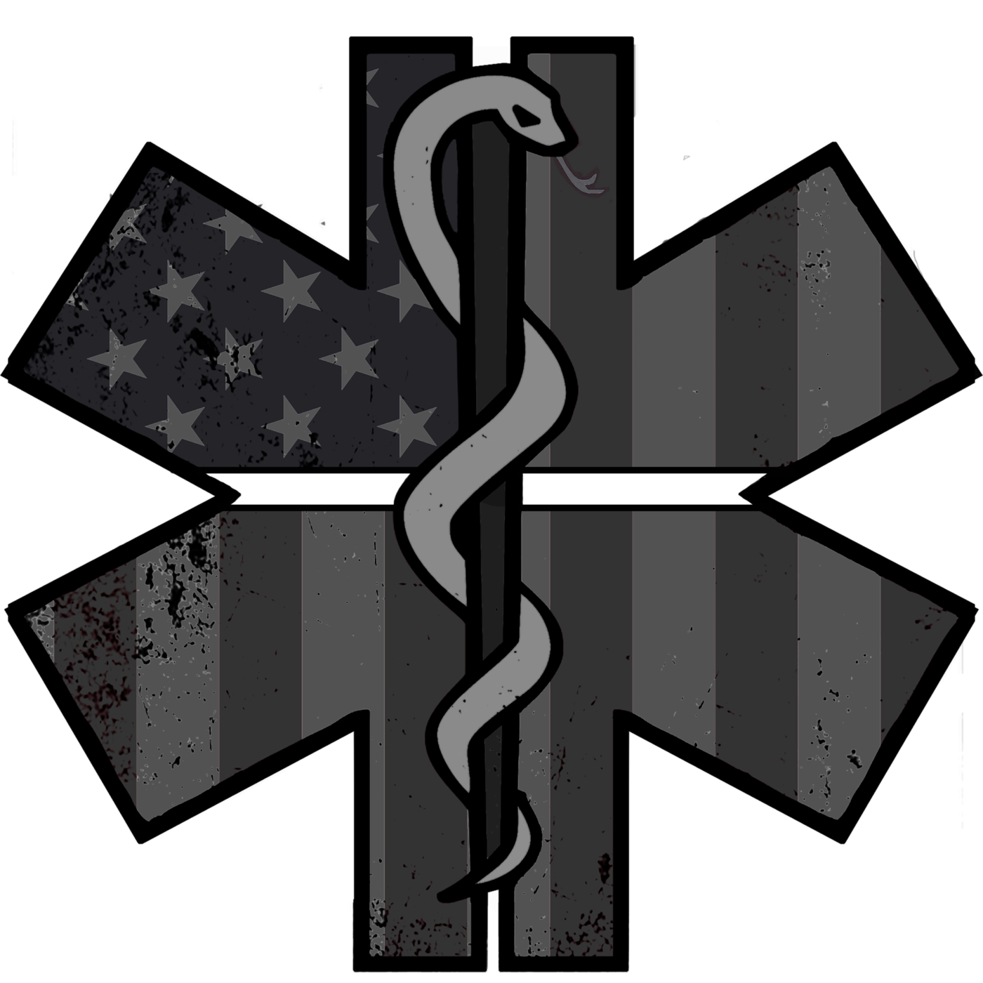 First responders clipart with a cross svg freeuse Subdued EMS Decal – American Responder Designs svg freeuse