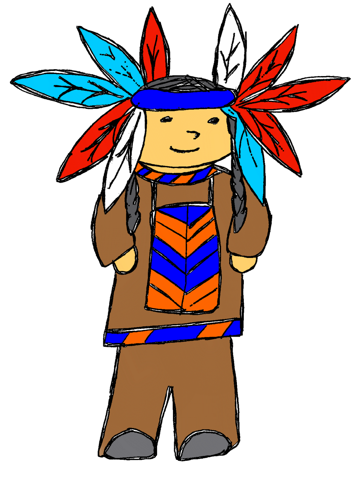 First thanksgiving clipart graphic royalty free library Indian Chief Clipart - clipart graphic royalty free library