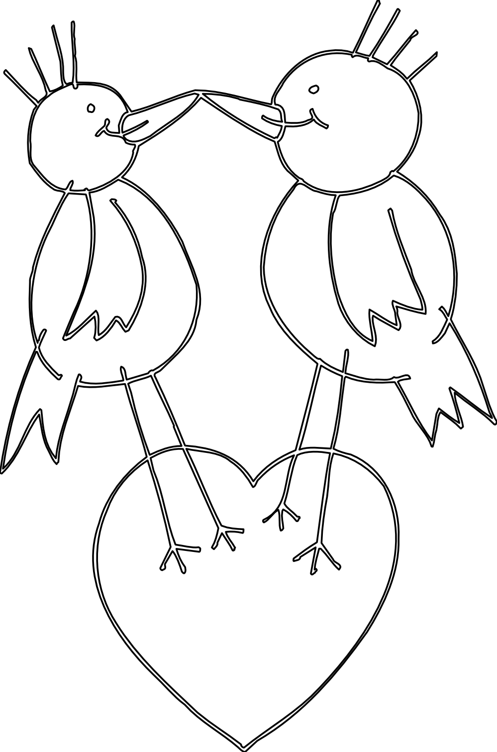 Library book clipart black and white picture free download Love Birds Clipart Black And White   Clipart Panda - Free Clipart Images picture free download
