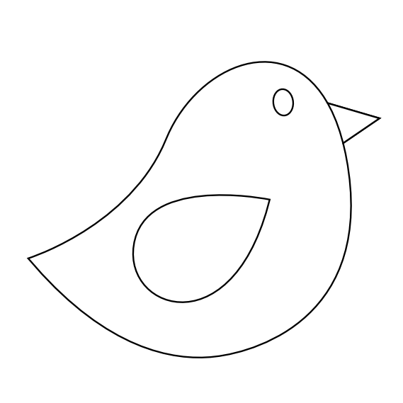 Bird panda free images. Fish and birds clipart black and white