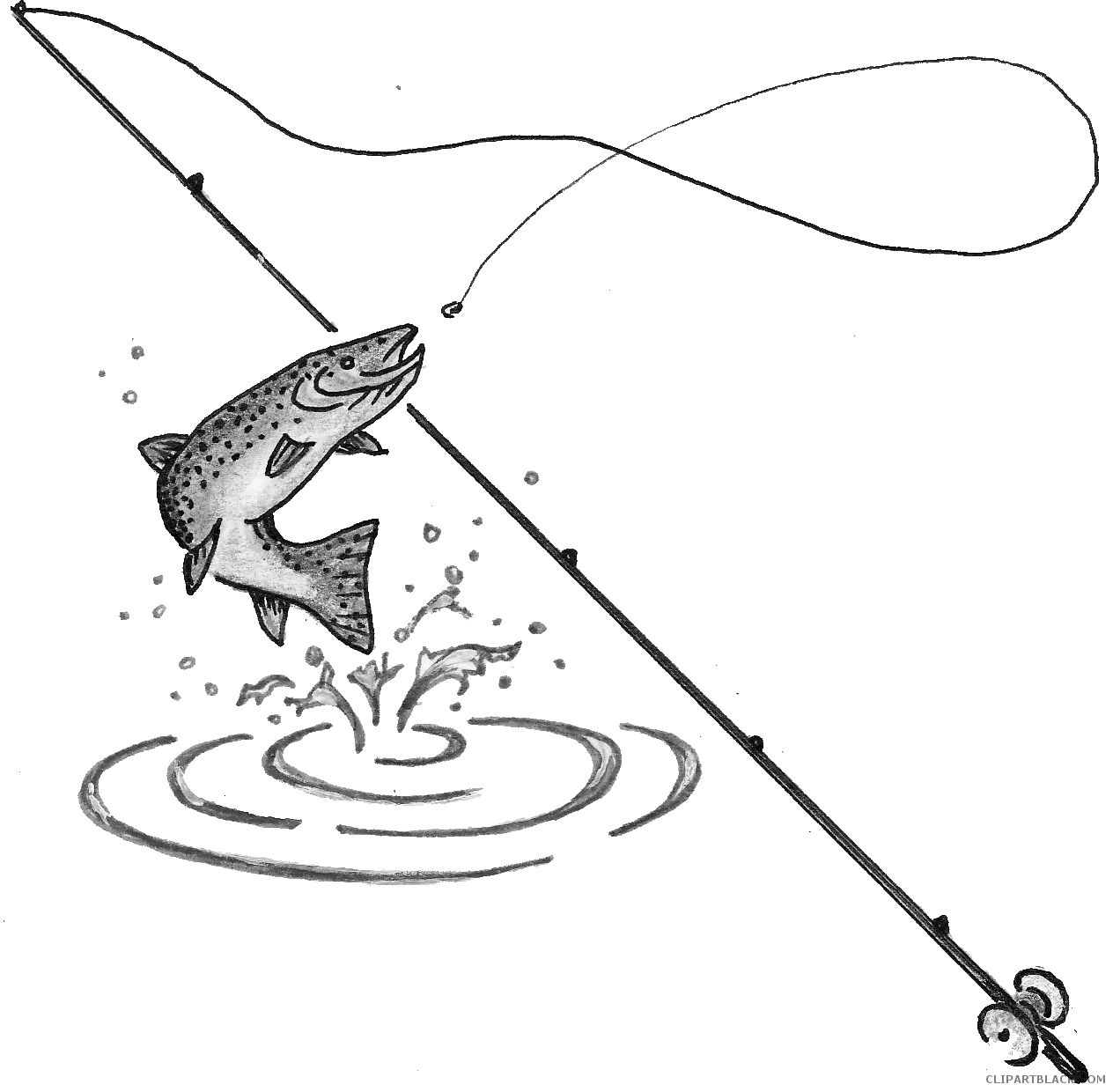 Fishing pole and fish clipart png Fishing Pole Clipart - Page 2 of 2 - ClipartBlack.com png