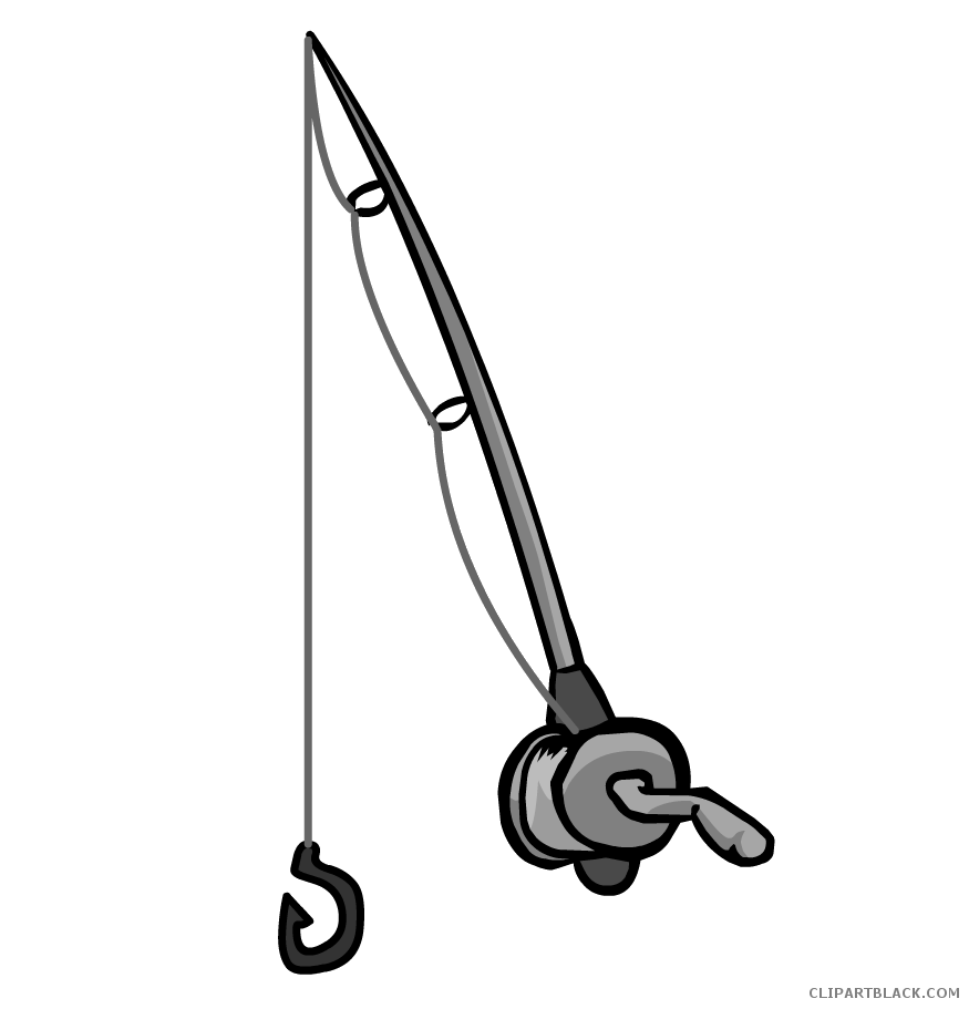 Clipartblack com tools free. Fish with a fishing rod clipart