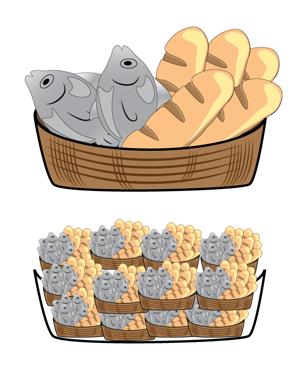 I can help others. Fish and loaves clipart