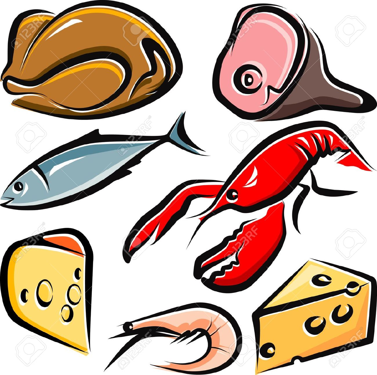 Fish and meat on the stick clipart picture transparent library Collection of Meat clipart | Free download best Meat clipart on ... picture transparent library