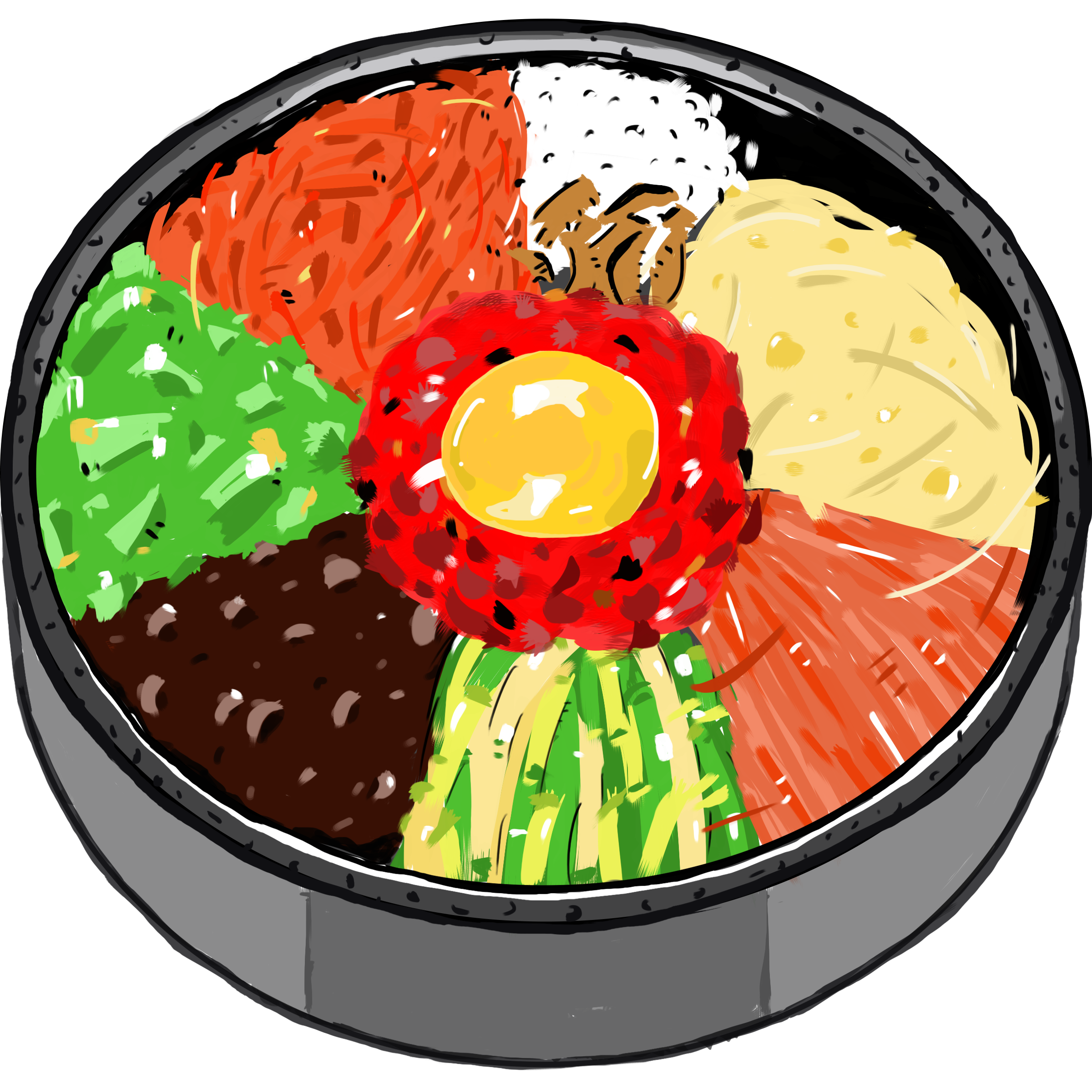 Fish meal clipart picture free stock Bibimbap Korean cuisine Food Fish Clip art - rice bowl 2400*2400 ... picture free stock