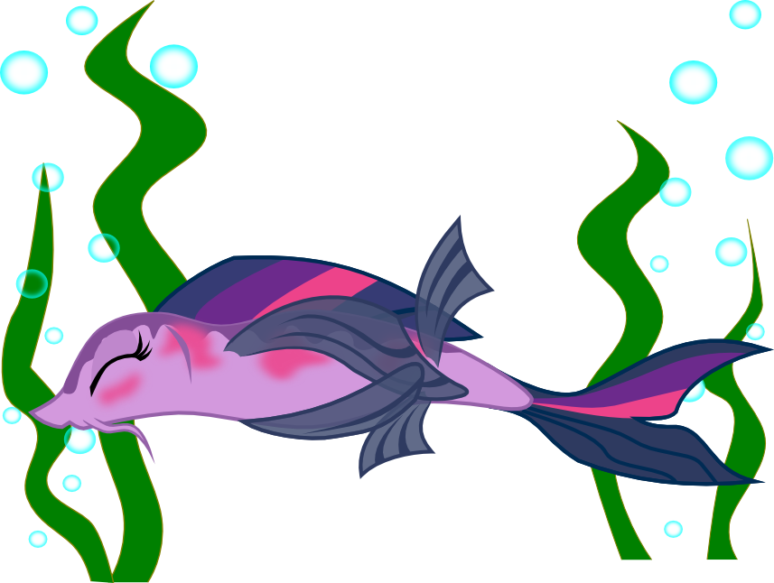 Fish and seaweed clipart clipart library download 546387 - artist:skrysal, blushing, bubble, covering, eyes closed ... clipart library download