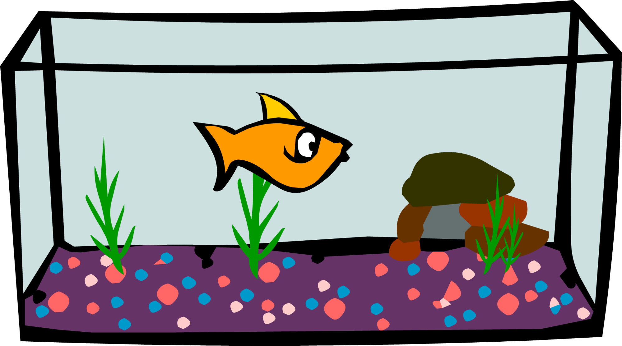 Fish tank transparent clipart png black and white Aquarium | Club Penguin Wiki | FANDOM powered by Wikia png black and white